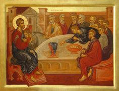 Last Supper by Elena Murariu Religious Images, Religious Icons, Religious Art, Life Of Christ, Jesus Christ, Russian Ark, Holy Thursday, Roman Church, Biblical Art
