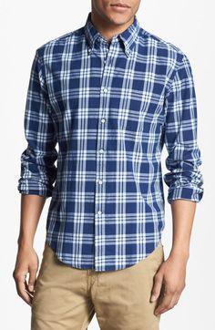 f9e57765 Gant Rugger Madras Plaid Woven Shirt in Blue for Men (indigo) Blue Plaid,