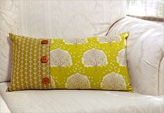 Lumbar Pillow with Front Button Closure | Sew4Home