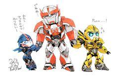 Arcee and Bee like baby Arcee Transformers, Robot Cartoon, Recent Movies, Robot Concept Art, Ratchet, Fandom, Manga, Just In Case, Human Human