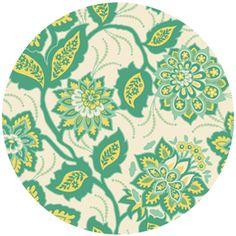 joel dewberry heirloom, home dec, ornate floral jade