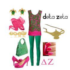 Delta Zeta, created by deltagammacj on Polyvore