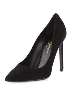 Saint Laurent Paris Suede Pointed-Toe Pump worn by Kim on Keeping Up With The Kardashians. Shop it: http://www.pradux.com/saint-laurent-paris-suede-pointed-toe-pump-33055?q=s26