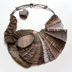Kootenay Stone Micro Macrame Necklace, by Kate Moran