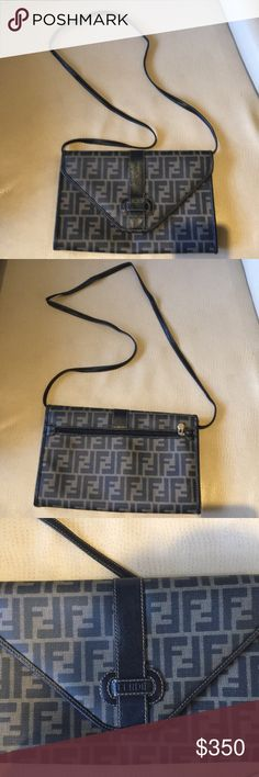 Vintage leather Fendi cross body bag Bought in Rome @Fendi Fendi Bags Crossbody Bags