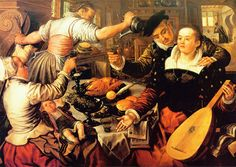 Joachim Beuckelaer    http://upload.wikimedia.org/wikipedia/commons/thumb/f/f9/Beuckelaer_kitchen.jpg/800px-Beuckelaer_kitchen.jpg