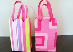 DIY gift bags out of scrapbooking paper?!? Yes please!