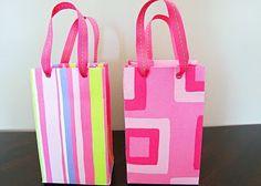 Scrapbook paper bags