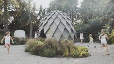 Pinecone-shaped pavilion can be used for outdoor classes and campfires  Czech designers Atelier SAD and Mmcité1 collaborated on the design of thismobile gazebo, which is covered inplywood scales that lend it the ap... http://drwong.live/art/design/pinecone-pavilion-plywood-shingles-mmcite1-atelier-sad/