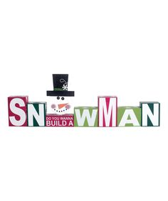 Look at this 'Do You Wanna Build a Snowman' Block Sign on #zulily today!