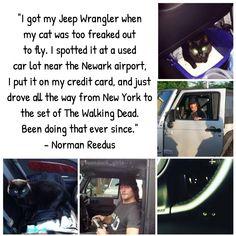 Norman Reedus cat eye in the dark jeep Boondock saints the walking dead