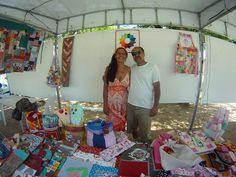 Momento Pituca e marido. Exposição Feira de artes e antiguidades da Praça das flores/Natal/RN