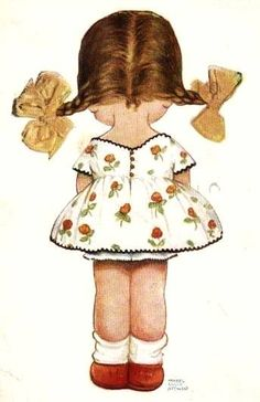 Mabel Lucie Attwell illustration (detail) Time out Vintage Pictures, Vintage Images, Cute Pictures, Vintage Cards, Vintage Postcards, Drawing For Kids, Art For Kids, Retro, Children's Book Illustration