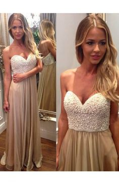 Prom Dress with Pearls,Sweetheart Prom Dresses,A-line Prom Dresses,Long Chiffon Prom Dresses,Long Prom Dresses,Chiffon Prom Dress,Long Chiffon Formal Gowns