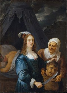 David Teniers the Younger (Flemish, 1610–1690). Judith with the Head of Holofernes, 1650s. The Metropolitan Museum of Art, New York. Gift of Gouverneur Kemble, 1872 (72.2). #halloween