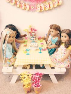American Girl Doll .... Picnic Table Idea
