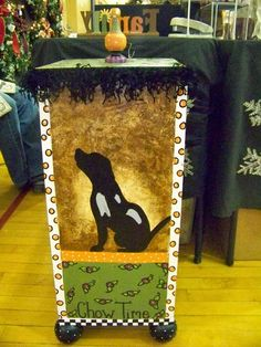 Love the idea of a dog on it!!!   The Decorative Paintbrush, Designs by Mary Mollica: Book Cases & Large Storage