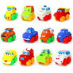 12 Pieces Baby Cars Soft Rubber Toy Vehicles for Babies Toddlers KIDS Fun Play - Baby Toy - ideas of Baby Toy Stocking Stuffers For Kids, Christmas Stocking Stuffers, Sock Monkey Pattern, Paw Patrol Toys, Teddy Bear Clothes, Toddler Car, Thing 1, Musical Toys, Dinosaur Toys