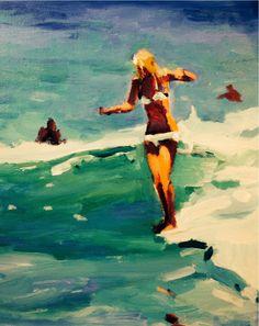 John Holm original art # surf art