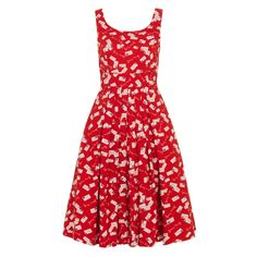 Isobel dress, Red Yours Truly