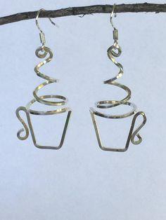 Coffee or Tea Cup Earrings, Sterling, Copper - DIY Earrings - . - Coffee or Tea Cup Earrings, Sterling, Copper – DIY Earrings – - Wire Jewelry Designs, Metal Jewelry, Jewelry Crafts, Jewelry Art, Beaded Jewelry, Fine Jewelry, Handmade Jewelry, Jewelry Making, Silver Jewelry
