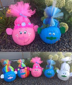 Troll Pumpkins -- Cute idea!!