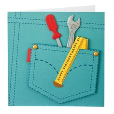 """Handyman card (this would be something for the """"impossible men"""" (to make cards for) in my life!)"""