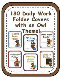 Owl Classroom Ideas | Fern Smith's Classroom Ideas!: Classroom Owl Themed Daily Folder ...