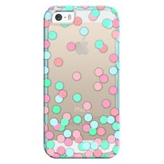 iPhone 6 Plus/6/5/5s/5c Bezel Case - Pink, Aqua & Teal Confetti ($35) ❤ liked on Polyvore featuring accessories, tech accessories, iphone case, teal iphone case, apple iphone cases, iphone cover case and pink iphone case