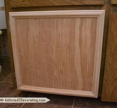 Easiest project.  Anybody can make a new cabinet door with these directions.  And you don't need carpentry experience.: