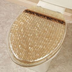 Roma Pearlescent Beige Elongated Toilet Seat