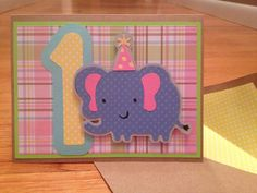First birthday card for little girl with by LoelleBoutique on Etsy, $5.00