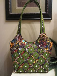 Handmade Handbag Amelia Caruso Fabric Purse Tote by kayscollection, $42.00