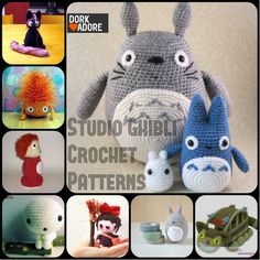 Free Studio Ghibli craft patterns - Love the Jiji! I must make!
