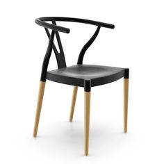 Integrating stylish classic design with the ease and functionality for today's busy lifestyle. Wade Logan Mustang Side chair are constructed from easy-to-clean molded plastic with the added richness of natural wood legs. The sculptural design of the curved backrest adds an aesthetic element from every angle while providing comfort as well. These truly versatile chairs are the perfect addition to a variety of settings.