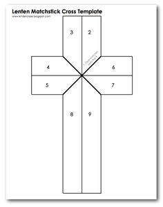 Free Template for Burnt Matchstick Cross