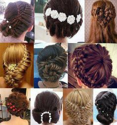 A lot of SUPER COOL braid buns and hair styles.