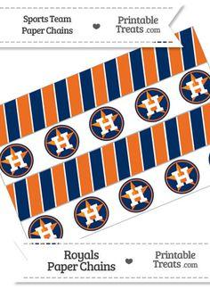 Houston Astros Printable Banner Flag Baseball Decor Easy