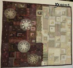 Vesmírný labyrint- textilní obraz / Zboží prodejce Helena P. My Works, Birmingham, Quilts, Frame, Decor, Art, Bohemia, Birmingham Alabama, Dekoration