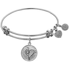 Angelica Non-Antique Stipple Finish Brass Music Angelica Bangle... ($25) ❤ liked on Polyvore featuring jewelry, bracelets, white, hinged bracelet, adjustable bangle bracelet, bangle bracelet, expandable charm bangle and bangle charms