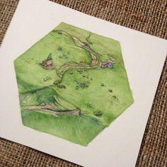 Catan Brettspiels Kunst - Weide-Hex-Konzept-Artwork - Einmaliges Geschenk für Catan-fan