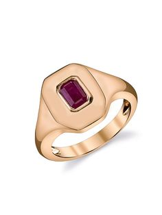 SHAY Jewelry - Ruby Essential Pinky Ring - Rose Gold