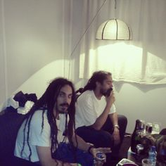This has to be Shiah Coore with Damian Marley; born within months of eachother, separate but equal as brothers