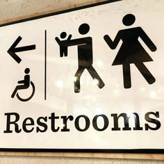 Finally, a bathroom sign for potty training parents. Love it.