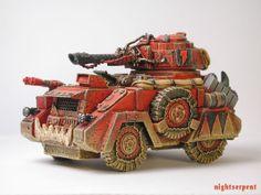 Ork Battlewagon, Looted Wagon, Kustom, 40k