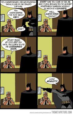 Not this time, Batman…