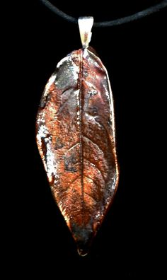 Red Copper Leaf by PaintedbyFire on Etsy, $15.00
