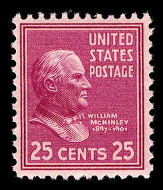 25c McKinley Rare Stamps, Vintage Stamps, Presidential History, Valuable Coins, Postage Stamp Art, Rare Coins, Stamp Collecting, William Mckinley, Poster