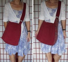 Maroon Messenger Bag with Pockets, Large Denim Tote with Adjustable Strap, Handmade Upcycled Jeans Purse, Ecofriendly Recycled Fabric Recycled Denim, Recycled Fabric, Eco Friendly Bags, Fabric Gift Bags, Thing 1, Fabric Remnants, Jeans Button, Long Tops, Stretch Jeans