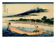 36 Views of Mount Fuji no 28: Shore of Tago Bay Ejiri at Tokaido  by Katsushika Hokusai